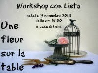 Workshop Une fleur sur la table