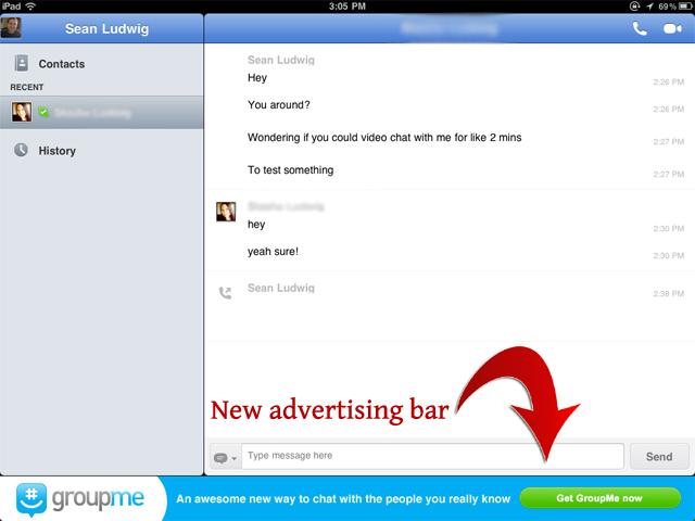 Skype new Screenshot