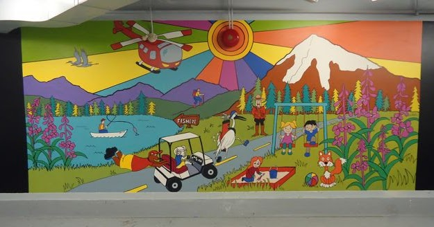Jackie irvine 39 s landscape art community mural project for Community mural project