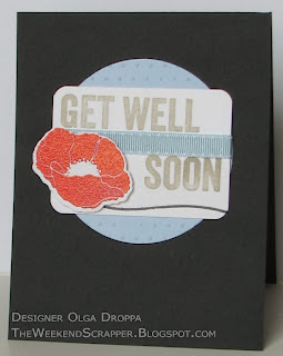 MFT Sketch challenge card with Poppies and Gell Well Wishes