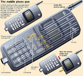 The camouflage gun inside the cellphone caught by Italian police in 2008. This gun in suspected has been involved in any shooting attacks