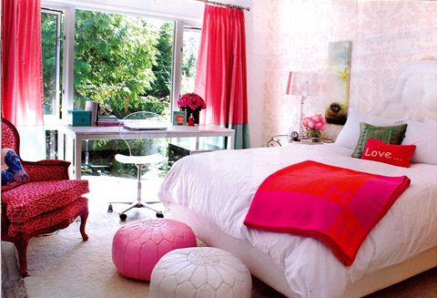Bedroom unique design for Pink teenage bedroom designs