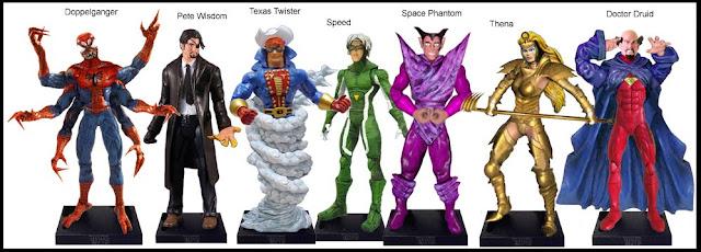 <b>Wave 42</b>: Doppelganger, Pete Wisdom, Texas Twister, Speed, Space Phantom, Thena, Doctor Druid