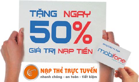 Khuyến mại Mobifone do Nạp Thẻ Trực Tuyến thông báo