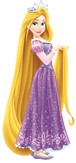 Rapunzel con tiara