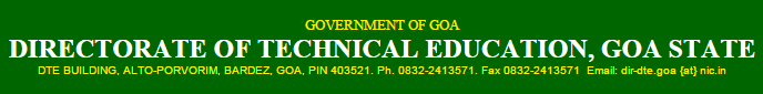 GCET Admit Card/Hall Ticket Download 2015 at www.dtegoa.gov.in