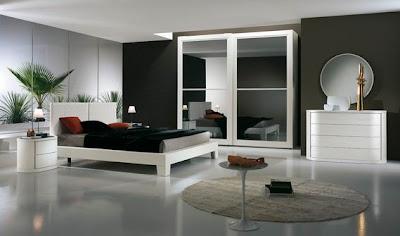 habitación blanco y gris