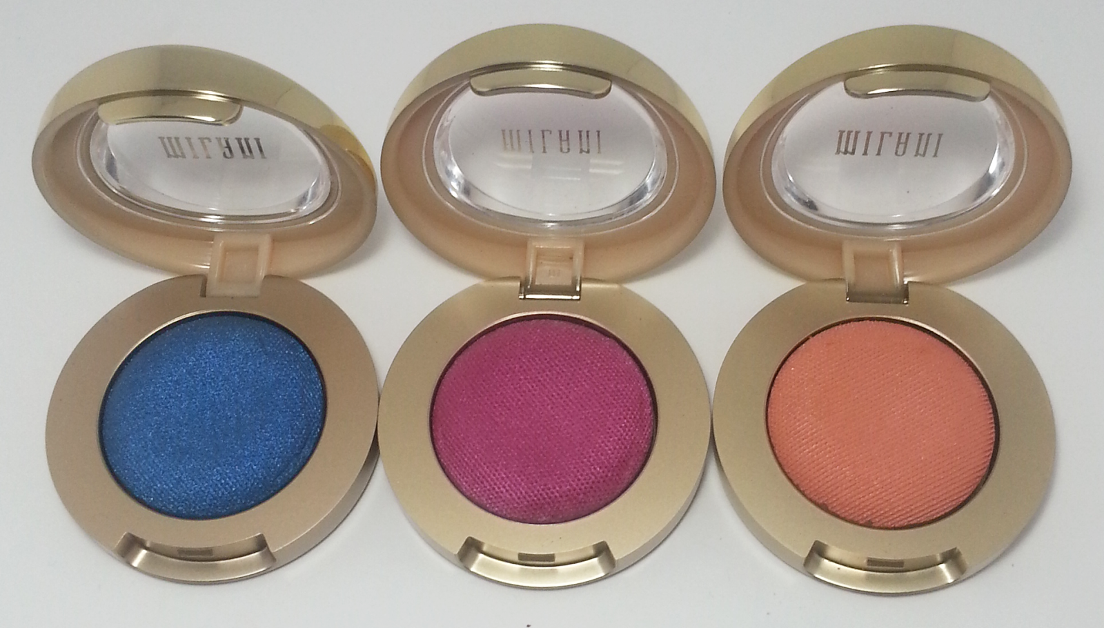 Milani Bella Eyes Gel Powder Eye Shadow - Cobalt - Fuchsia - Mandarin | Kat Stays Polished