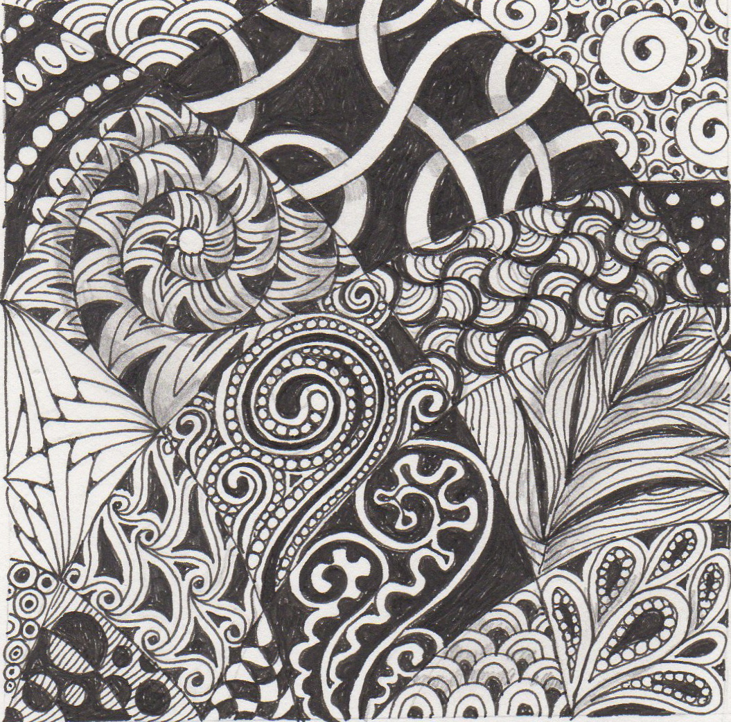 Zentangle Patterns Banar Designs: April 2...