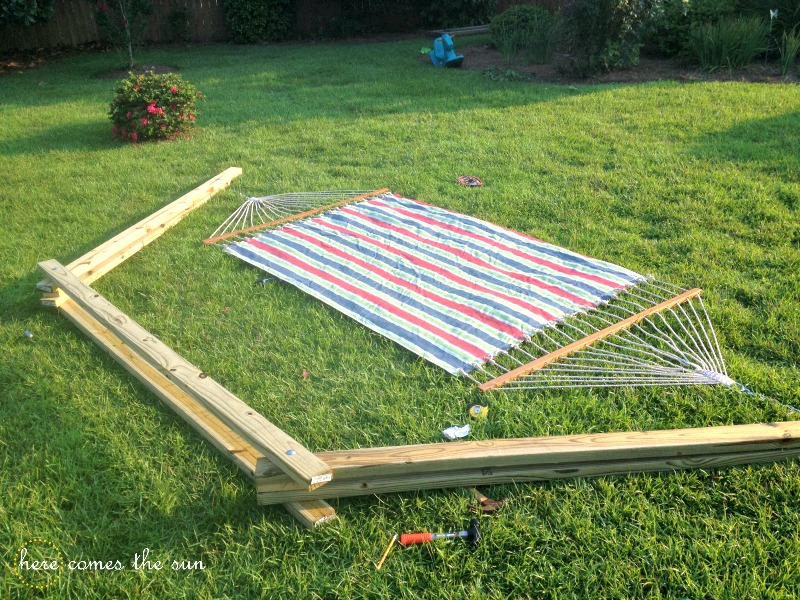 Medium image of how to make a diy hammock stand