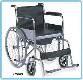 kursi roda 2 in 1 sella bisa untuk jadi kursi toilet tempat buang air BAB