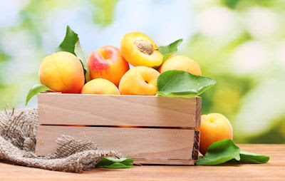 Duraznos frescos - Frutas del huerto - Apricots 