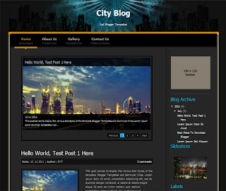 City Blog Blogger Template