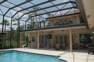 Backyard Enclosures pool screen enclosures boca raton, fl; keep the gators out of the