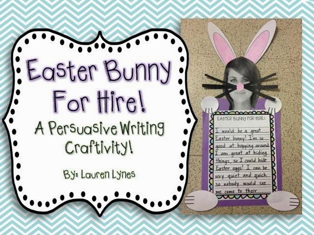 http://www.teacherspayteachers.com/Product/Easter-Bunny-for-Hire-A-Persuasive-Writing-Craftivity-1047294