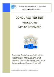 """Concurso""""Eu sei!"""" - Vencedores mês de novembro"""