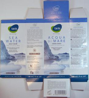 BJOBJ - Acqua di Mare - Crema corpo elasticizzante - scatola aperta