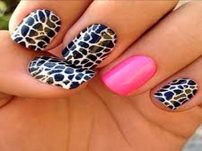 Zebra and Cheetah Nail Designs