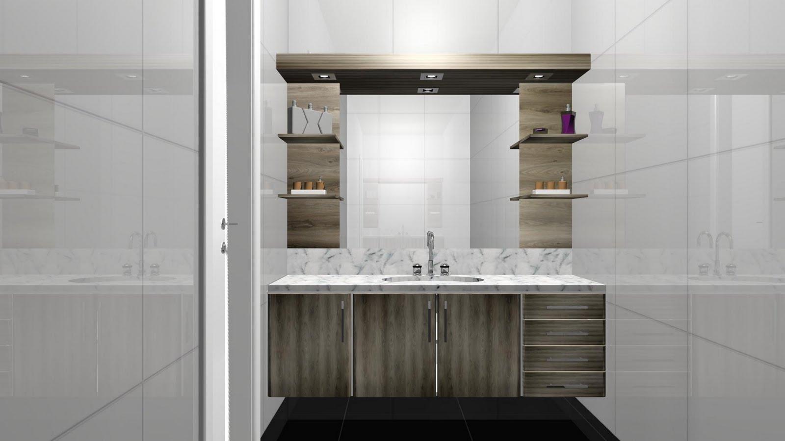 Espaço Nobre Design: Balcão de Banheiro e Prateleiras (Carvalho  #5F275F 1600x900 Balcão De Banheiro Tumelero