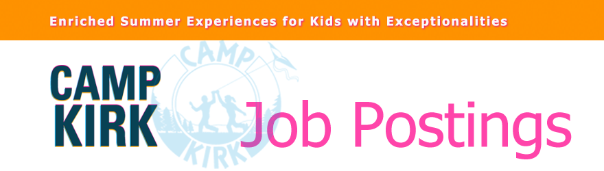 Camp Kirk Job Descriptions