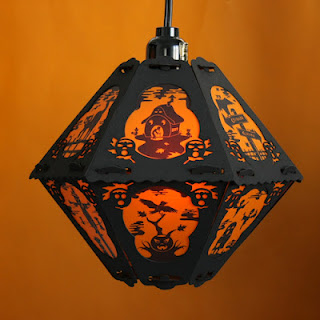 1930s cartoon style house on Halloween lantern The Pumpkin Dream by Bindlegrim