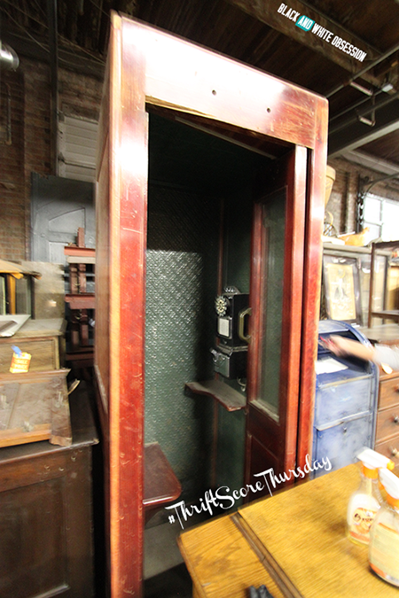 #thriftscorethursday Week 16 Vintage Telephone Booth | www.blackandwhiteobsession.com