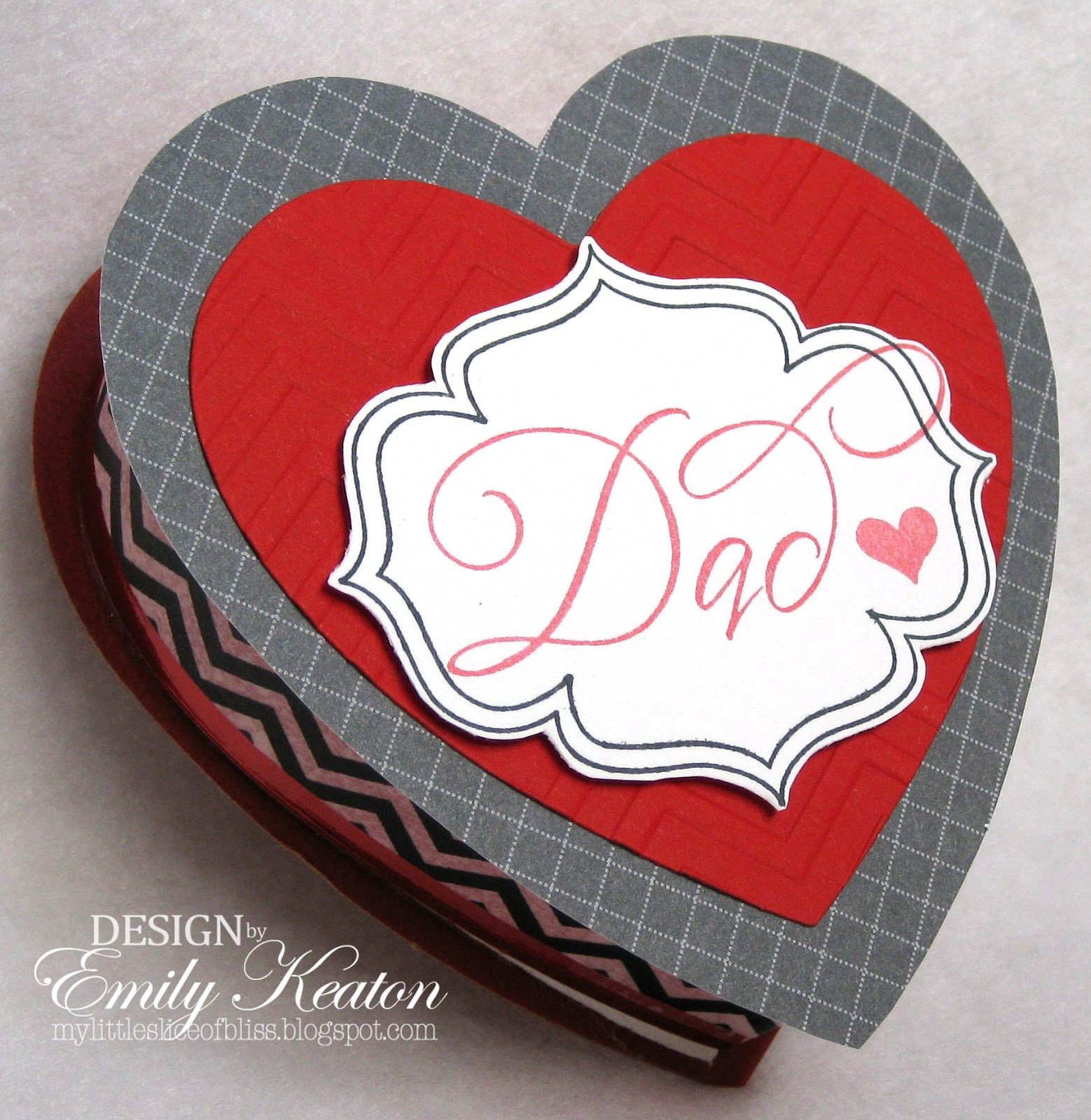 From DeNami Design: Dad Stamp, Elegant Oval Frame Stamp, Heart From  Whimsical Valentine Stamp Set, Chevron Embossing Folder, And Black Chevron  Washi Tape