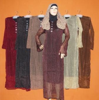 Gamis Sifon Polkadot Gs052 Diskon Grosir Baju Muslim