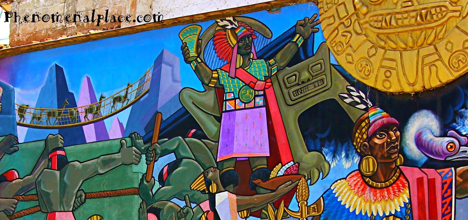Cusco Mural By Juan Bravo Shows Amazing History Of Peru Places On