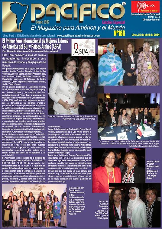 Revista Pacífico Nº 166 Edición Especial  Foro Internacional