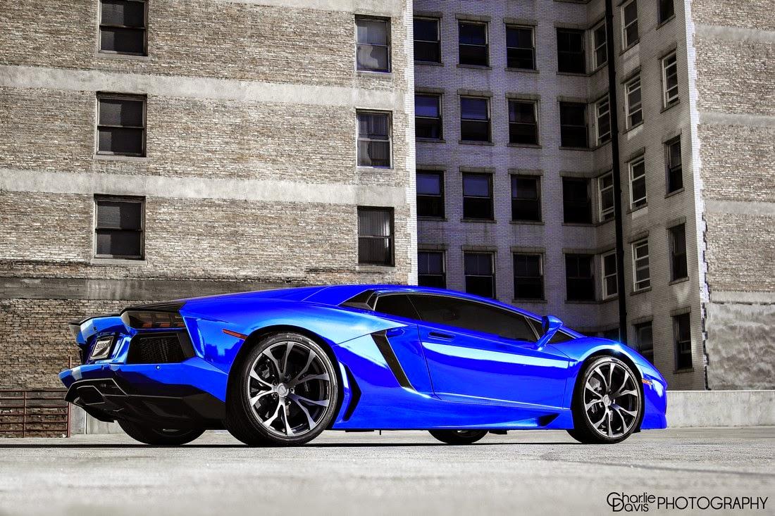 chrome blue lamborghini aventador lp 700 4 - Lamborghini Aventador Blue Chrome