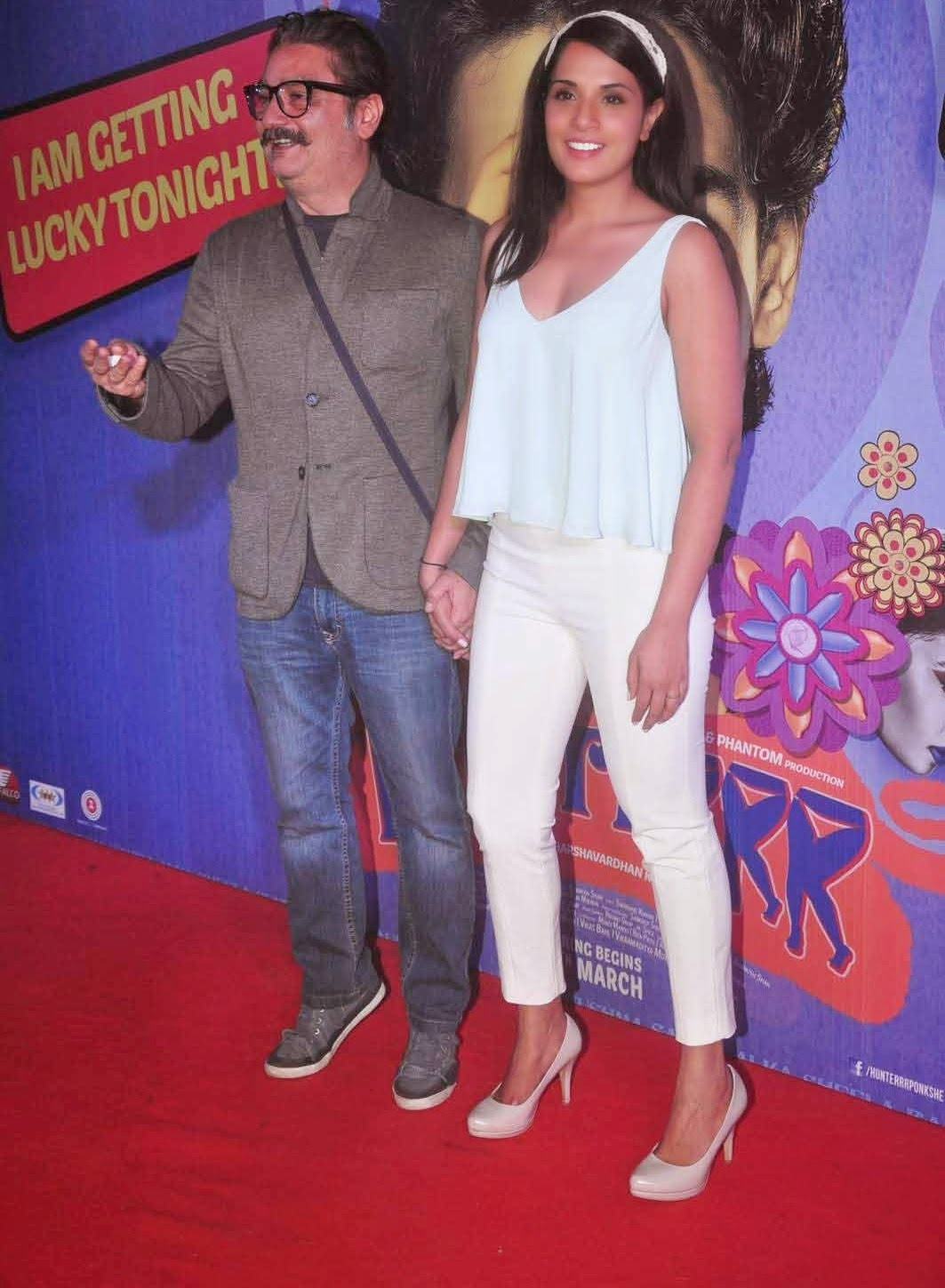 Richa Chadda at Hindi Movie Hunterrr Special Screening Photos In Mumbai