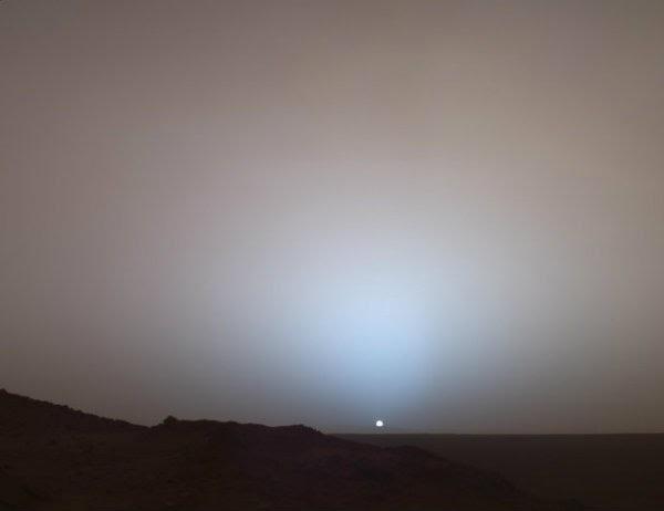 Слънцето от повърхността на Марс