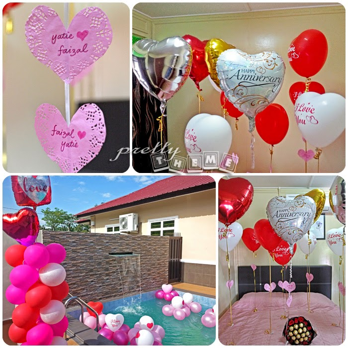 Homestay And Pool Deco Special Surprise Including Balloons In The Swimming On 10th Wedding Anniversary