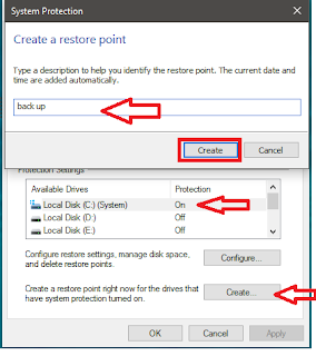 How to Create System Restore & Repair Windows 10 PC,how to enable system restore point,how to troubleshoot windows 10 pc,how to repair windwos 10 pc,how to restore windows 10 pc,how to create system restore point in windows 10 pc,create restore point,windows troubleshoot,system restore,pc reset,how to reset windows 10,how to restore windows 10,restore point,system protection,Create a restore point,how to repair windows 10,how to reset,error,how to repair pc Enable System restore point and Repair and restore your windows 10 pc when your in trouble....  Click this link for more detail...