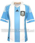. ya se saben como serán las camisetas de la Selección Argentina de Fútbol . argentina