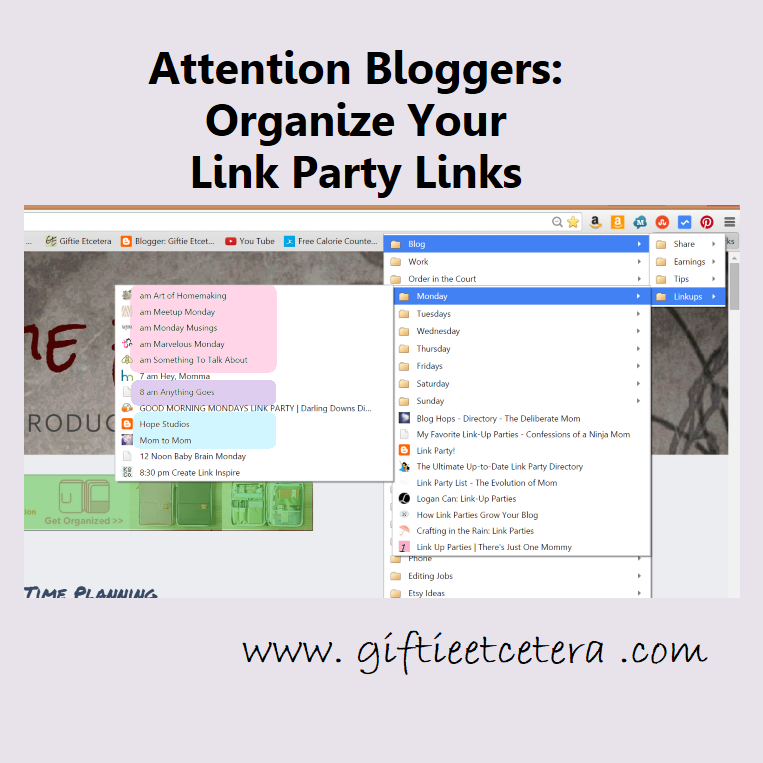 Organize Your Link Parties