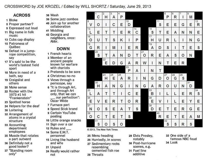 New york ti 2014 01 11 solve the weekly new york times crossword