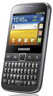 Samsung Galaxy Y Pro with QWERTY keyboard