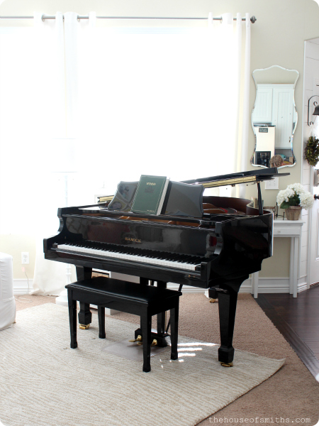 Our perfectly imperfect home thoughts my piano man for Small size piano