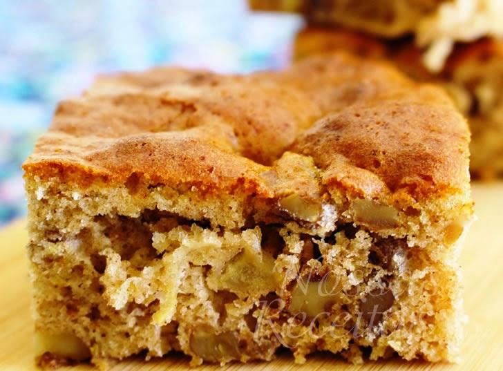 Receita de bolo de maçã com casca