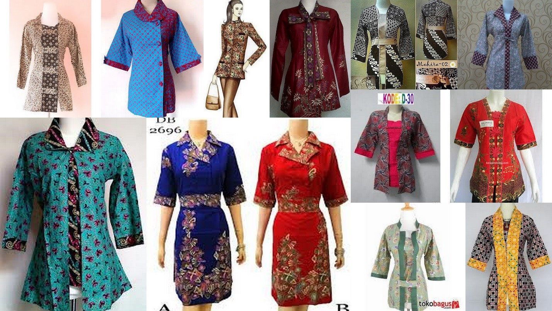 Gambar Model Baju Batik Wanita Muslimah Modern Terbaru 2014 | Cantik