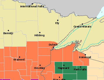 2013 - Weather Update - Flash Flood Watch for parts of NW Wisconsin