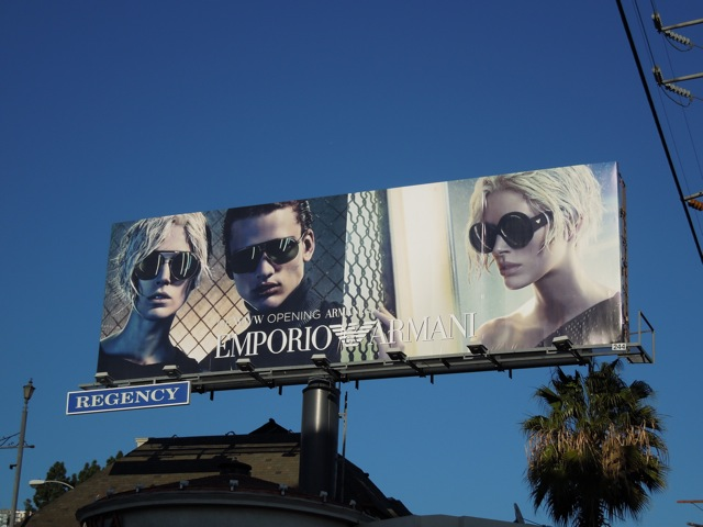 Emporio Armani sunglasses billboard