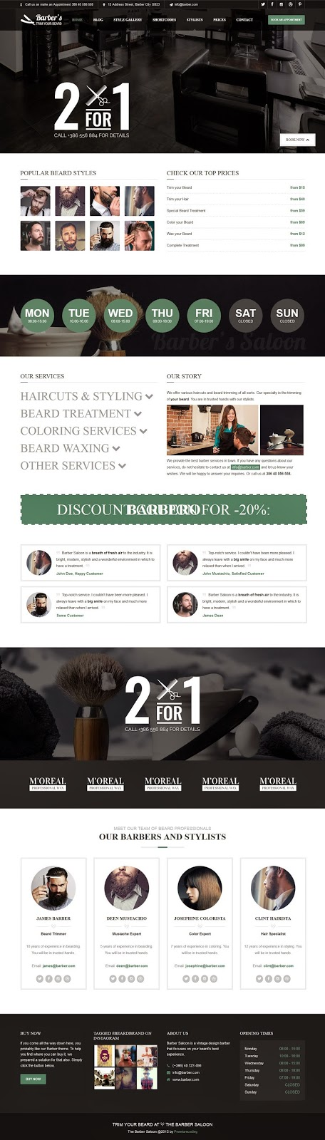 Best WordPress Theme for Barbers and Hair Salons