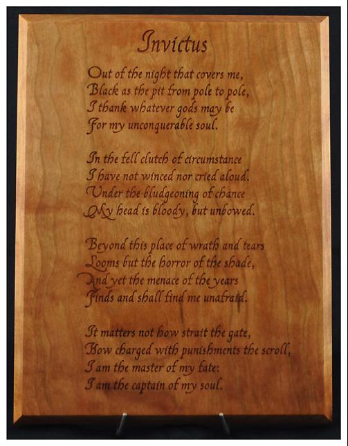 Invictus poem analysis essay