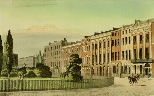 Portman Square, from Ackermann's Repository of Arts (Aug 1813)