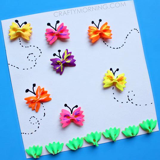 Kidissimo facile fabriquer un tableau de papillons - Tableau facile et rapide a realiser ...