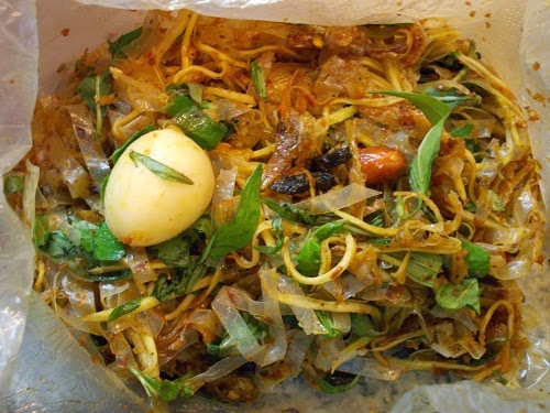 Vietnamese Mixed Rice Paper Street Food (Banh Trang Tron)