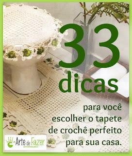 33 dicas de tapetes de crochê